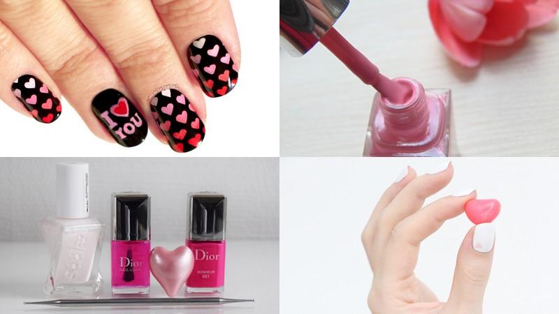 nail arts de Saint Valentin