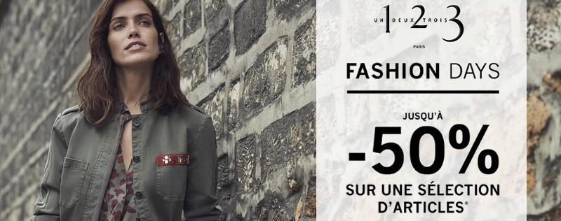 Les Fashion Days 1 2 3 : jusqu'à 50% de réduction