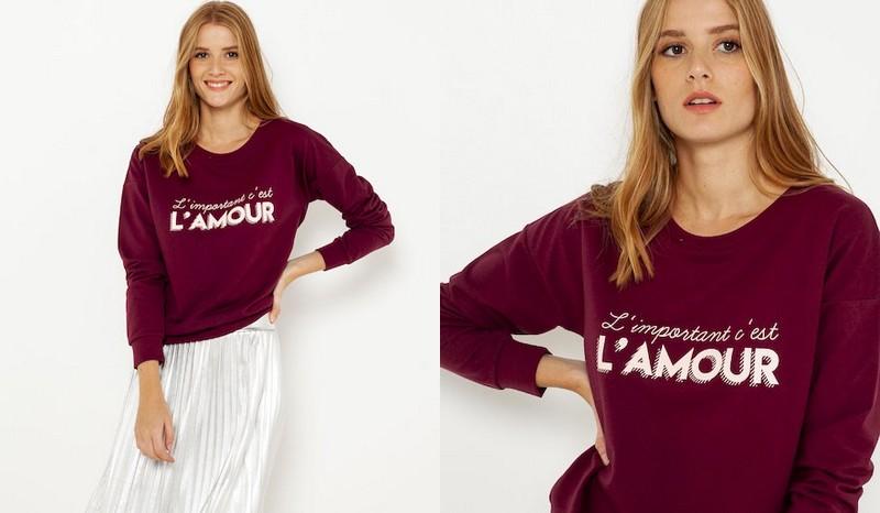 sweat-shirt Camaïeu