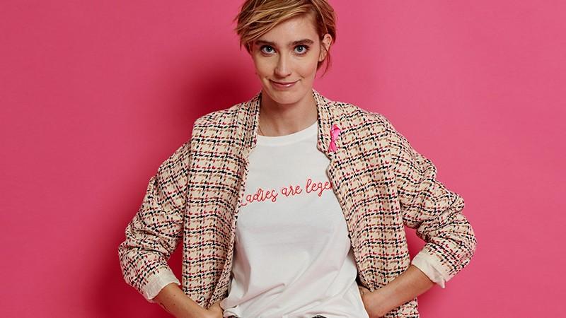 T-shirt Camaïeu Octobre Rose