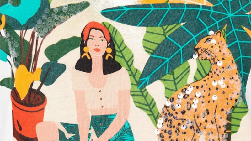 On craque pour les prints arty des T-shirts Camaïeu