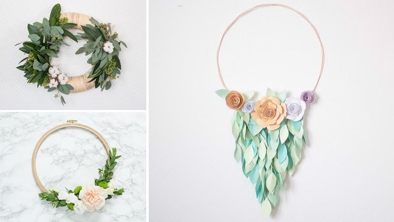 Déco de printemps : la couronne végétale