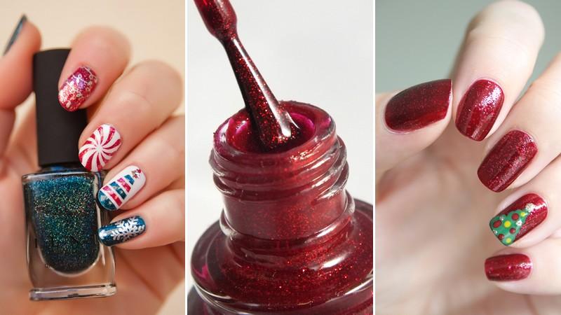 nail arts Noël