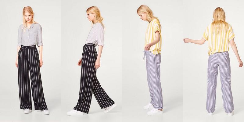 pantalons rayés
