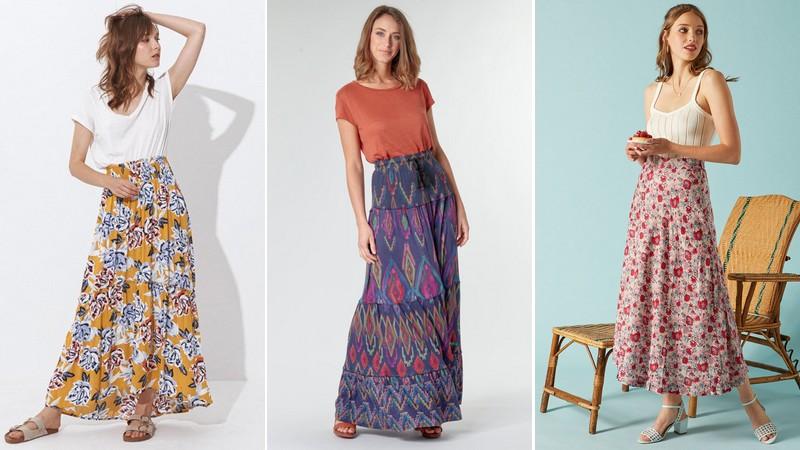 10 jupes longues imprimées parfaites pour l'été
