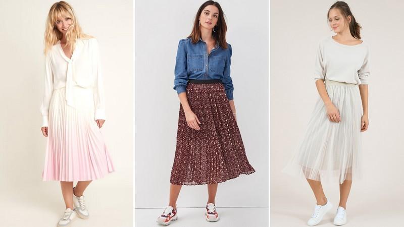 jupes plissées