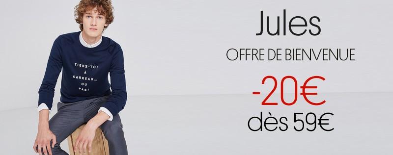 offre de bienvenue Jules