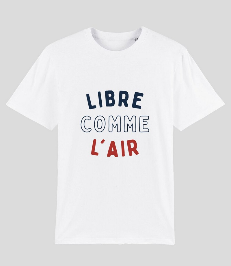 T-shirt libre comme l'air