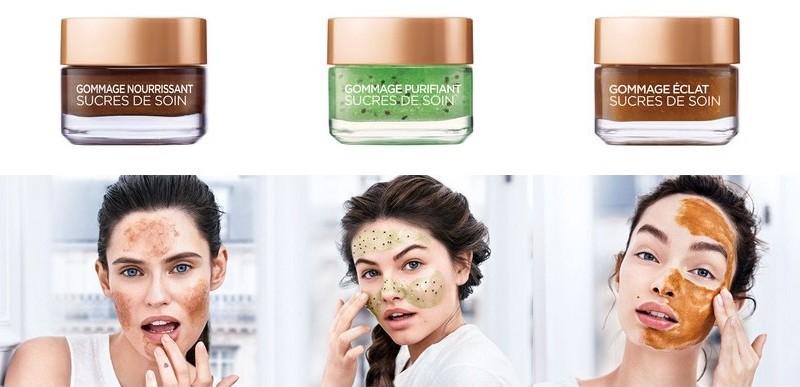 gommages L'Oréal