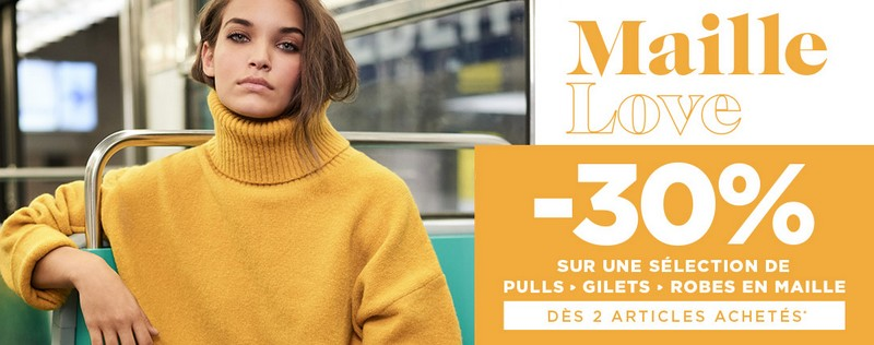 Promo Maille Love Morgan : 30% de réduction