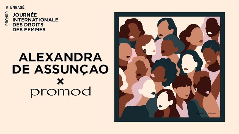 Alexandra De Assunçao x Promod : les foulards solidaires en exclu web