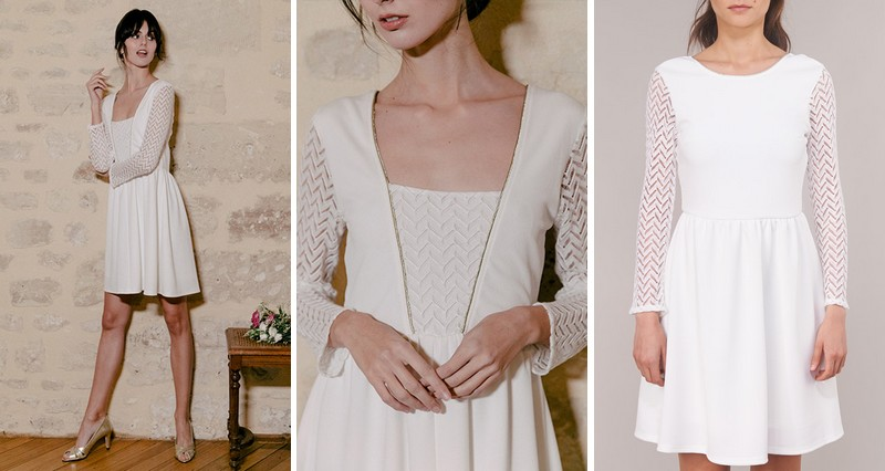 robe courte de mariée