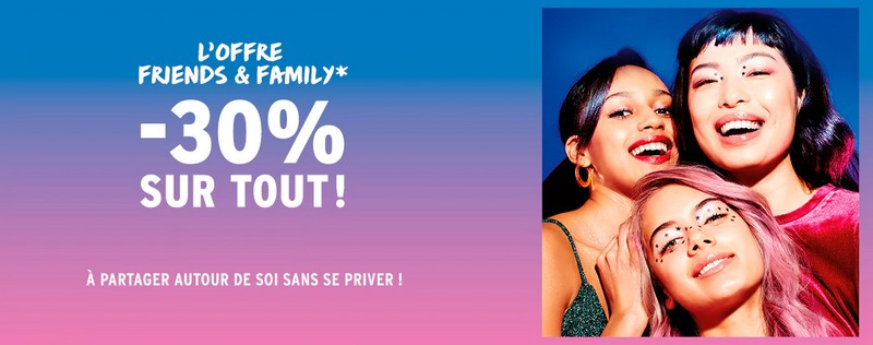 L'offre Friends & Family The Body Shop : -30% sur tout !