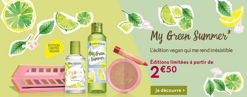 my green summer Yves Rocher