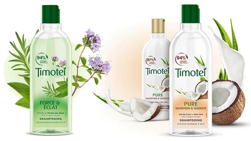 Prenez soin de vos cheveux avec les shampoings Timotei à prix doux