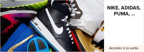 vente privée Nike, Adidas, Puma