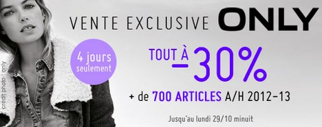Vente exclusive Only