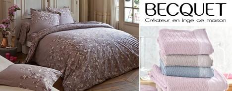 becquet vente priv e de linge de maison. Black Bedroom Furniture Sets. Home Design Ideas
